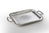 rectangular tray engraved with handles - 178854760