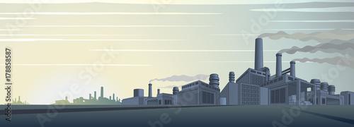 Foto op Plexiglas Beige Industrial Cityscape Vector
