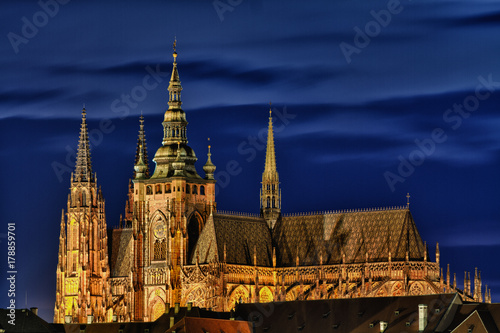 prague castle blue hour Poster