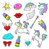 Unicorns icon set