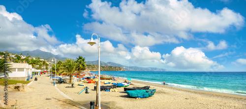 Nerja beach. Malaga province, Costa del Sol, Andalusia, Spain - 178879960