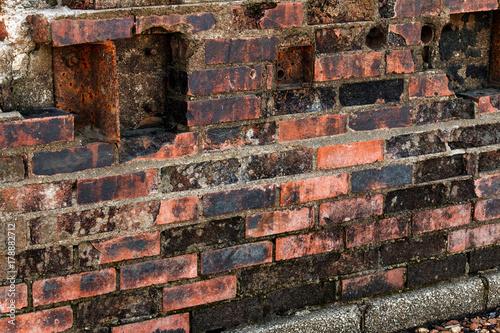 Foto op Canvas Baksteen muur Wall of Corrosion