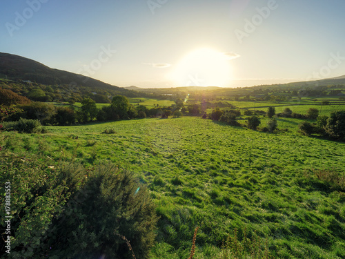 Fotobehang Wit Early Autumn countryside morning,Northern Ireland