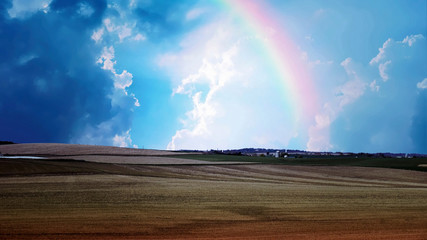 Rainbow, Clouds and Gold Perhaps © Jason