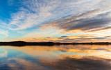 Sunset. Beautiful Sunset reflection in water