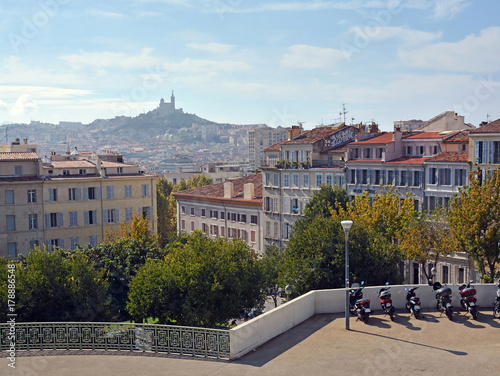 View over Marseilles in Autumn from Railway Station, France Poster