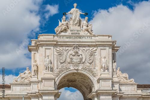 Arco da Rua Augusta, Triumphbogen im Zentrum der portugiesischen Hauptstadt Lissabon