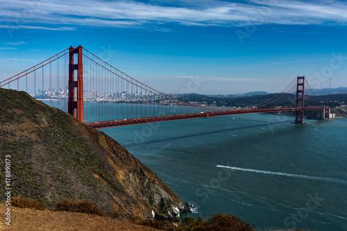 Famous Golden Gate Bridge in San Francisco California United Sta Poster