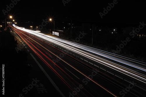 Fotobehang Nacht snelweg 道