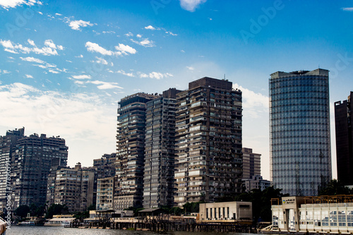 Foto op Aluminium New York Buildings on background in Cairo, Egypt