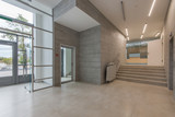 Entrance in a modern clinic or office center - 178911707