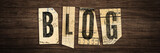 Blog - letters on wooden retro board - 178919515