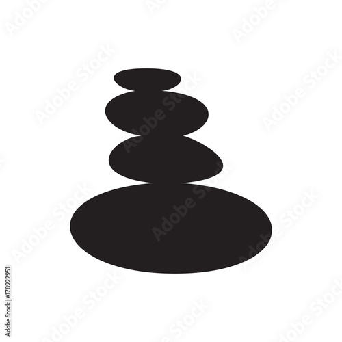 spa stones icon illustration