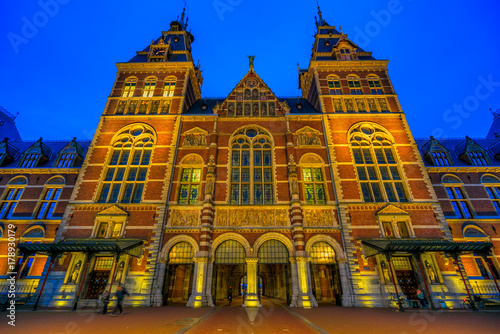 The Rijksmuseum in Amsterdam, Netherlands. Poster
