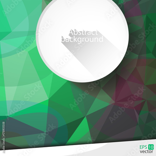 Fotobehang Abstractie Geometric abstract background with banner ...
