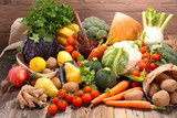 assorted raw fruit and vegetable - 178933512