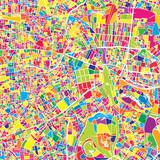 Tokyo, Japan, colorful vector map