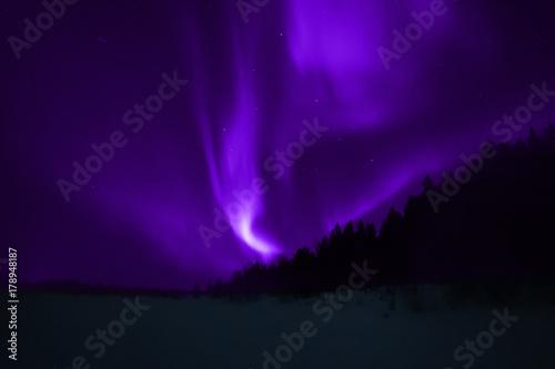 Fotobehang Violet Aurora Borealis