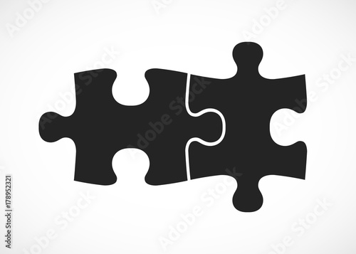 Double piece flat puzzle. Two section compare service banner.