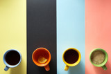 cup of coffee and tea at paper background - 178955518