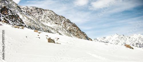 Foto op Canvas Wit winter landscape