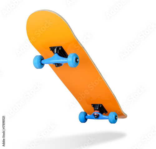 Fotobehang Skateboard Skateboard deck on white background, isolated path included