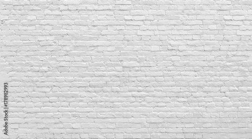 White old brick wall urban Background. - 178982993