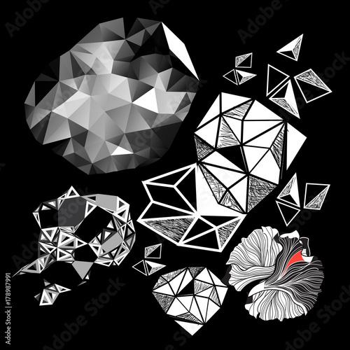 Fotobehang Abstractie Vector set of abstract elements