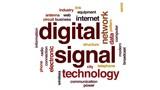 Digital signal animated word cloud, text design animation. - 178994126