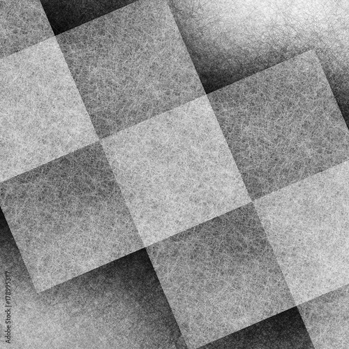 background in black white and gray abstract pattern design with squares, blocks, and diamond shapes in transparent layer, abstract geometric website background  - 178995387