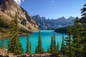 Lake Moraine. Alberta .Canada