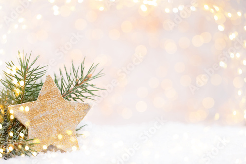 Vintage Christmas background with Christmas decoration. - 179017939