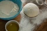 Flour sprinkled over dough - 179022302