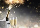 Champagne And Fireworks For Sparkling Celebration - 179022720