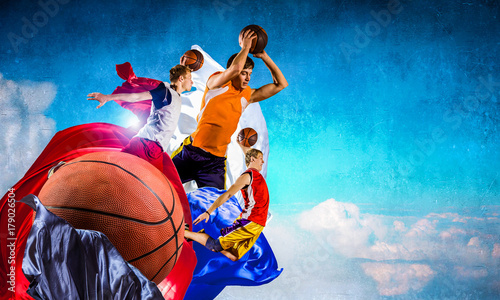 Fotobehang Basketbal Basketball game as religion