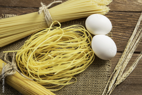 Close of yellow pasta
