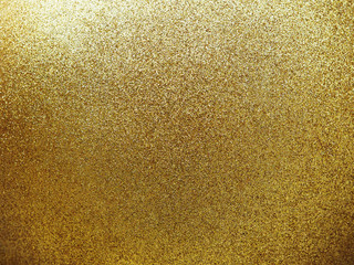 Textured of golden round ball with glitter