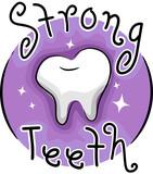 Strong Teeth Icon Illustration - 179037909