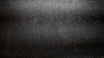 rusty black diamond plate background