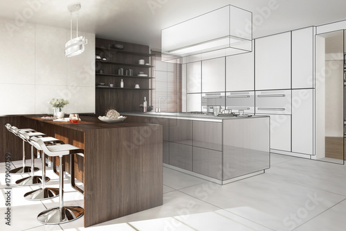 Contemporary Designed Kitchen (conception) - 179060759