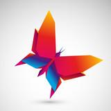 motyl origami wektor