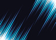 Speed lines on black background. Abstract lights horizontal motion. Stripes fire. Vector illustration for web design banner or print