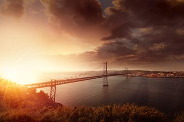 Bridge in Lisbon Portugal