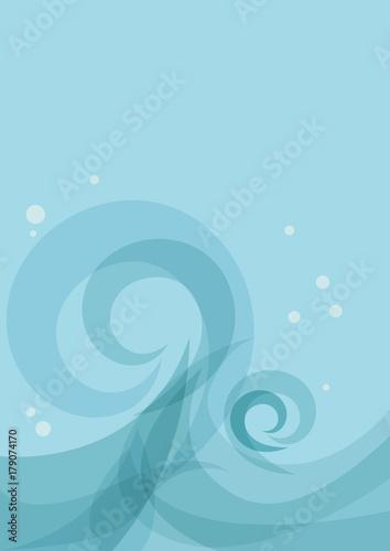 Vector abstract blue sea waves, summer concept