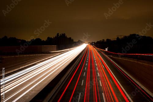 Fotobehang Nacht snelweg Horizont