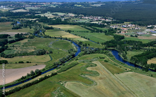 Aluminium Landschappen Zusammenfluss von Uecker und Randow