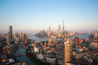 Quadro Aerial photography bird view at Shanghai bund Skyline