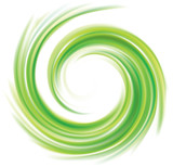 Vector swirling backdrop green color - 179090727