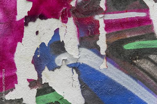 Papiers peints Graffiti painted wall detail