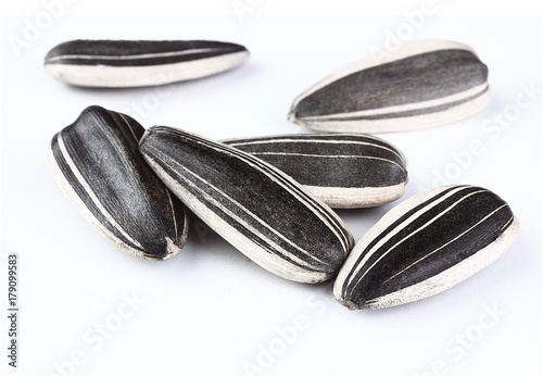 Fototapeta sunflower seeds isolated white background